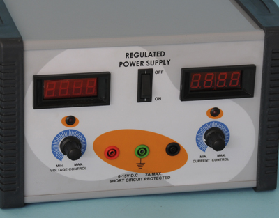 Regulated power supply, 1-15 V DC