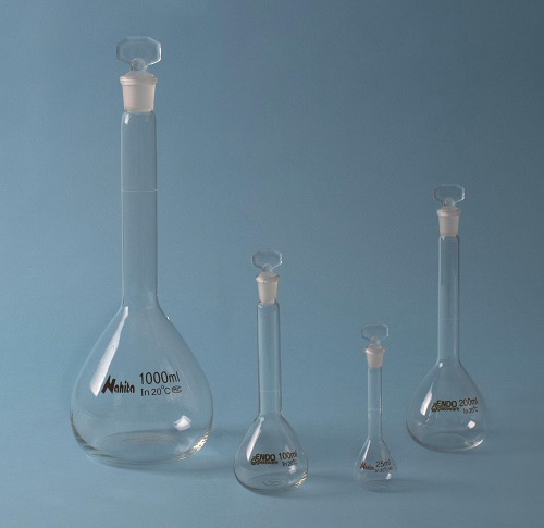 Volumetric flask with stopper, 200 ml