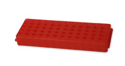 Rack 60 microtubes 0.5/1.5 mL, red