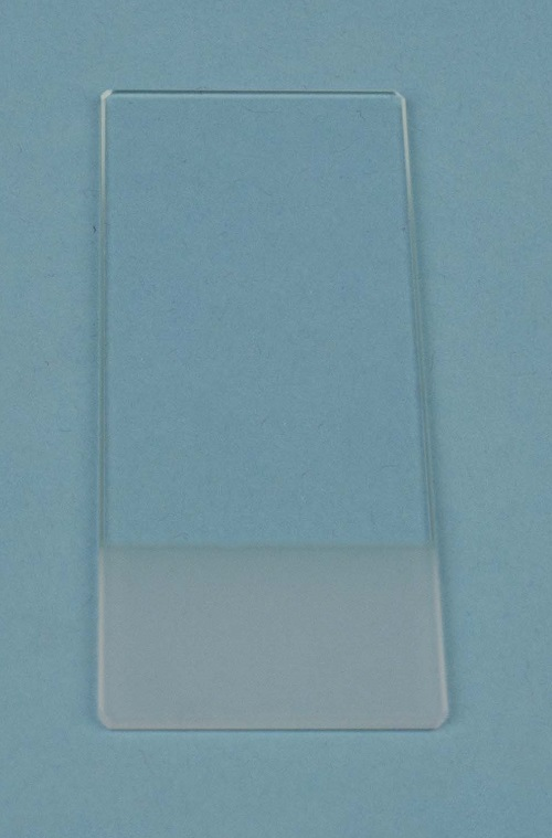 Microscope slides RS ground edge 76x26mm 45° both sides frosted, B/50
