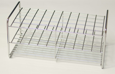 Stainless steel rack, 50 tubes of 13 mm