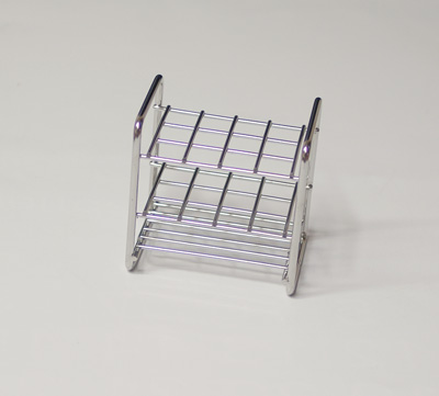 Stainless steel rack, 12 tubes of 13 mm
